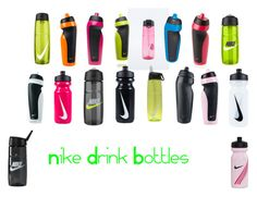 """""""Nike Drink Bottles"""" by neens-4ever ❤ liked on Polyvore featuring NIKE"""