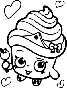 Shopkins Coloring Pages Cupcake Queen 2