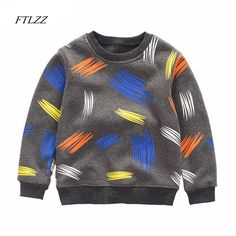 Boy shirt 2018 New Spring Autumn Top Sweat shirt For Baby Kids Casual Football Printed Pullover Tee Boys Children Clothing //Price: $30.34 //     #fashionkids