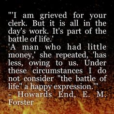 Responsibility, Howards End, E. M. Forster