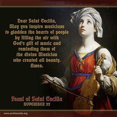 Prayer to St. Cecilia, Feast Day: November 22