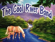 """Paintings by Vicki  """"The Cool River Band"""" logo"""