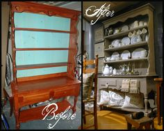 Girl in Pink: Patched up Hearts: An Outdated Country Hutch Makeover for the Downton Abbey Servant's Quarters