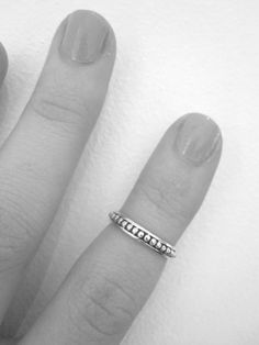Patterned Above Knuckle Ring