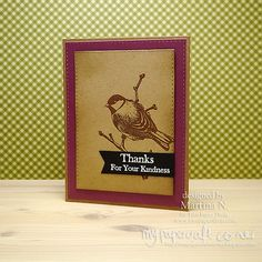 Thank you card Paper Divas, I Card, Thank You Cards, Stamps, Card Making, About Me Blog, Thankful, Corner, Frame