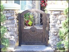 Wrought Iron Courtyard Entry Gate