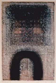 Takahiko Hayashi ~ D-18, 1996 (mixed media, paper making, painting, collage)