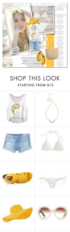 """sun summer splash"" by lifestyle-ala-grace ❤ liked on Polyvore featuring Cullen, Rebecca Minkoff, rag & bone/JEAN, J.Crew, Michael Antonio, Accessorize, Prada and Target"