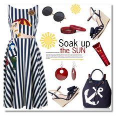 """""""Soak Up The Sun"""" by truthjc ❤ liked on Polyvore featuring Dolce&Gabbana, Tommy Hilfiger, Kate Spade, Kerastase and Mixit"""