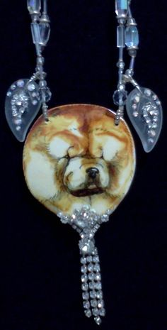 Shaded Red Rough Coated Chow Chow necklace. Original.    Owned and curated by The Pendragwn Group