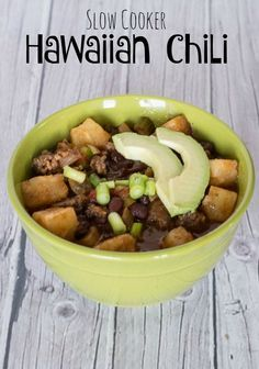 Slow Cooker Hawaiian Chili - an easy meal for a busy weeknight from the crock pot.