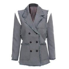 Tassel Patchwork Blazer For Women Lapel Collar Long Sleeve Coat Blazer Female OL Fashion Blazer Blazers For Women, Suits For Women, Jackets For Women, Clothes For Women, Women Blazer, Ol Fashion, Blazer Fashion, Fashion 2020, Striped Jacket