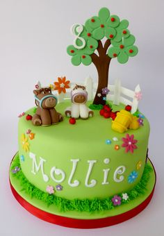 Apple tree and horse cake