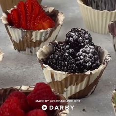 How to Make Chocolate Desert Cups SHOP This Video is part of Dessert cups recipes - How to Make Chocolate Desert Cups SHOP This Video Just Desserts, Delicious Desserts, Dessert Recipes, Yummy Food, How To Make Desserts, Party Recipes, Chocolate Deserts, Chocolate Cups, Chocolate Molds
