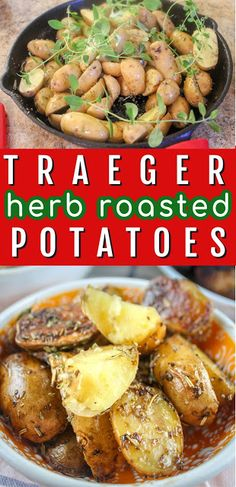 Smoked Potatoes, Herb Roasted Potatoes, Baby Potatoes, Potato Side Dishes, Best Side Dishes, Cooking A Roast, Smoker Cooking, Cooking Tips, Summer Grilling Recipes