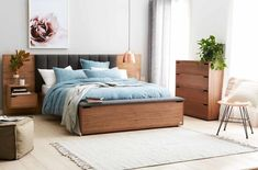 Lincoln Bed Frame W/Upholstered Bedhead & Storage Foot Box Latte - Forty Winks Bedroom Furniture Design, Modern Bedroom Design, Master Bedroom Design, Bed Furniture, Bedroom Decor, Furniture Ideas, Bedding Decor, Bedding Sets, Furniture Dolly