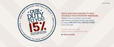 Banana Republic discount program. Active duty, veteran, family members - 15%