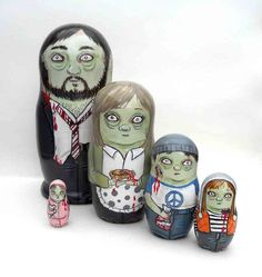 Zombie Family Nesting Dolls