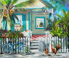 Key West Island Style Print