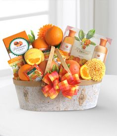 Citrus Spa Gift Basket BUT WITH CINDYS CHIPS