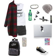 Untitled #168 by bandsformybae on Polyvore featuring Topshop, Converse, Vans, Coal, Barry M, Manic Panic, River Island, women's clothing, women's fashion and women