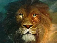 talented artist!! oil painting lion oil painting, lion painting, lion art