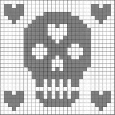 Crochet stitch skulls day of the dead