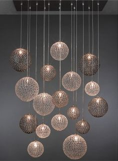 Mod Pendant Chandelier - contemporary - Chandeliers - Seattle - ArtisanCraftedLighting