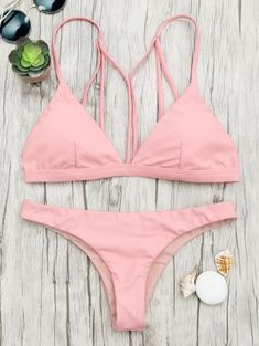 Padded Back Strappy Bathing Suit