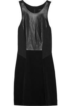 rag & bone leather/satin dress