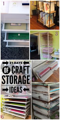 Welcome to day twenty-three of the 31 Days of Craft Storage Ideas. Today we are talking about artist's paper and canvas. I've a few re-purposed items and a DIY. I'm sure you'll find some creative ideas for storing your craft supplies here.
