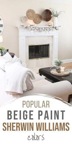 Off White Paint Colors, Ceiling Paint Colors, Best Neutral Paint Colors, Dining Room Paint Colors, Trending Paint Colors, Popular Paint Colors, Interior Paint Colors, Gray Beige Paint, Tan Paint