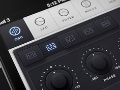 iPhone synth UI design found on Dribbble.