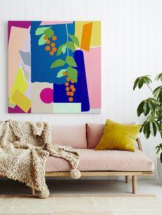 Colorful artwork for colorful spaces | Image via Leah Bartholomew