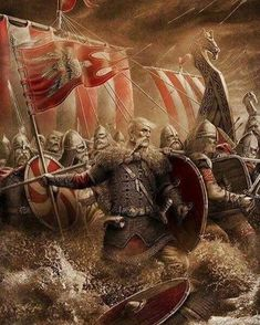 Vikings were superior in height and strength generally. They especially wanted the gold found in monasteries but also took many slaves and lives as th. Viking Life, Viking Art, Viking Ship, Viking Woman, Norse Pagan, Norse Mythology, Vikings, Viking Warrior Tattoos, Eslava