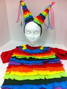 Pinata costume for Halloween. Easy and inexpensive costume ideas. Ideas and Inspirations