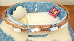 Couffin bébé en rotin complet, Suzy rhabille vos couffins vintage ! de la boutique MerciSuzy sur Etsy