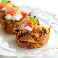 Taco Cupcakes Printable Recipe