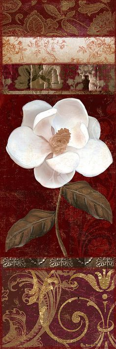 Magnolia Painting - Flores Blancas Rectangle I by Mindy Sommers