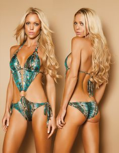 21b67d59eac Teal Leopard O Ring Pucker Back Monokini - MEDIUM. Front lined pucker back  tie side monokini with keyhole and jeweled antique O ring trim ties around  back ...