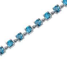 Peora.com - 7 cts Round Cut London Blue Topaz Sterling Silver Bracelet SB3676, $79.99 (http://www.peora.com/eternally-magnificent-7-00-carats-total-weight-round-shape-london-blue-topaz-gemstone-bracelet-in-sterling-silver-free-shipping-style-sb3676/)
