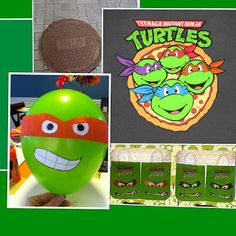 Teenage Mutant Ninja Turtle Party inspiration for Cole's bday! Ninja Turtle Party, Ninja Party, Ninja Turtle Birthday, Birthday Fun, Birthday Ideas, Birthday Parties, Birthday Balloons, Teenage Mutant Ninja Turtles, Party Entertainment