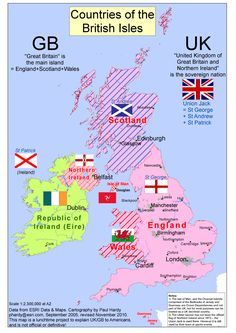 Map of the UK and Eire