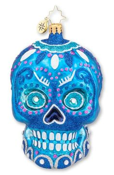 Christopher Radko 'La Calavera' Skull Ornament available at #Nordstrom