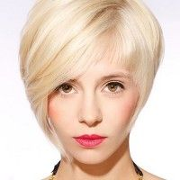 short asymmetrical hairstyle
