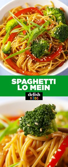 Spaghetti Lo Mein is a win for even the pickiest of eaters. Get the recipe at Delish.com.