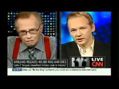 Wikileaks founder to CNN you should be ashamed, Larry you actually shoul...