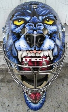 GM Hockey open forum - What is your favourite goalie mask design, past or present? Goalie Gear, Hockey Helmet, Goalie Mask, Hockey Goalie, Hockey Teams, Ice Hockey, Hockey Stuff, Hockey Players, Hockey Rules