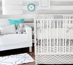 Products Boy Nursery Ideas. Add more color.  Could also be a girl nursery. Depends on the colors you add.