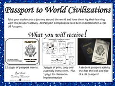 Have your students log their journey through world civilizations with this GREAT passport activity!